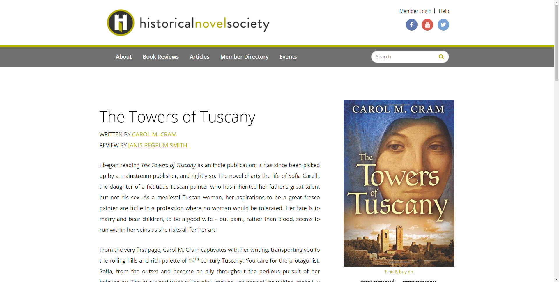 Historical Novel Society Editor's Choice